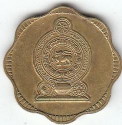 Монета > 10центов, 1975 - Шри-Ланка  - obverse