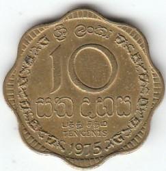 Монета > 10центов, 1975 - Шри-Ланка  - reverse