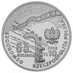 Moneda > 10zlotych, 2010 - Polonia  (65 aniversario -Liberación de KL Auschwitz-Birkenau) - obverse