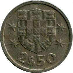 Монета > 2.5ескудо, 1976 - Португалия  - obverse