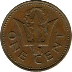 Münze > 1 Cent, 1973-1991 - Barbados  - obverse