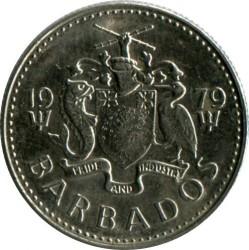 Кованица > 10центи, 1973-2005 - Барбадос  - reverse