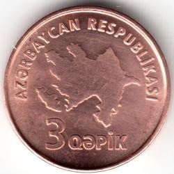 Монета > 3гяпіки, 2006 - Азербайджан  - obverse