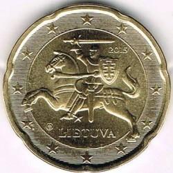 מטבע > 20סנט, 2015-2018 - ליטא  - obverse