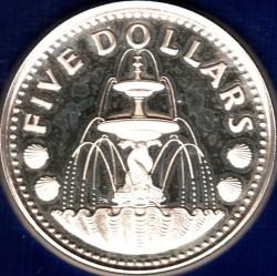 Coin > 5dollars, 1973-1982 - Barbados  (Fountain) - reverse