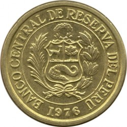 Кованица > ½сола, 1975-1976 - Перу  - obverse