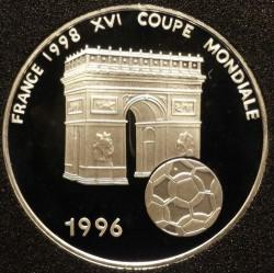 Moneda > 1000francos, 1996 - Benín  (World Cup Soccer - France 1994) - reverse