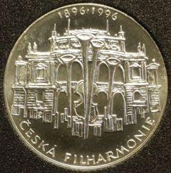 Moneda > 200coronas, 1996 - República Checa  (100th Anniversary - Czech Philharmonic) - obverse