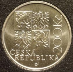 Moneta > 200 corone, 2001 - Repubblica Ceca  (250th Anniversary - Death of Kilian Ignaz Dientzenhofer) - reverse