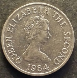 Coin > 5 pence, 1983-1988 - Jersey  - reverse