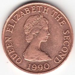 Coin > 2 pence, 1983-1992 - Jersey  - reverse