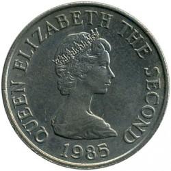 Moeda > 5pence, 1983-1988 - Jersey  - obverse