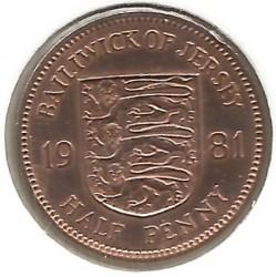 Moeda > ½pence, 1981 - Jersey  - reverse