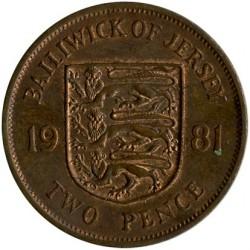 מטבע > 2פנס, 1981 - ג'רזי  - reverse