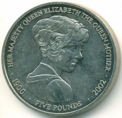 Moneta > 5funtów, 2002 - Jersey  (Królowa Matka) - reverse
