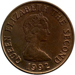 Coin > 2pence, 1992-1997 - Jersey  - obverse