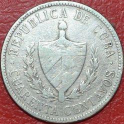 Coin > 40centavos, 1915-1920 - Cuba  - obverse