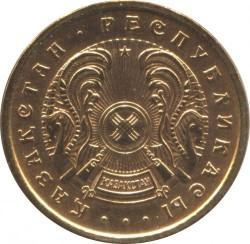 Moneta > 10tiyn, 1993 - Kazakistan  (Colore Marrone) - obverse