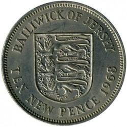 Moneda > 10newpence, 1968-1980 - Jersey  - reverse