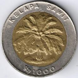 Кованица > 1000рупија, 1993-2000 - Индонезија  - reverse