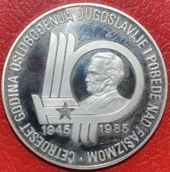 Moneda > 5000dinares, 1985 - Yugoslavia  (40º Aniversario - Liberación del Fascismo) - reverse