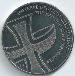 Monēta > 10eiro, 2015 - Vācija  (150th Anniversary - German Maritime Search and Rescue Service) - obverse