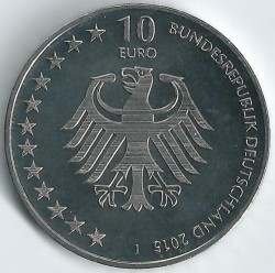 Monēta > 10eiro, 2015 - Vācija  (150th Anniversary - German Maritime Search and Rescue Service) - reverse