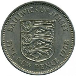 Moeda > 5pencenovos, 1968-1980 - Jersey  - reverse