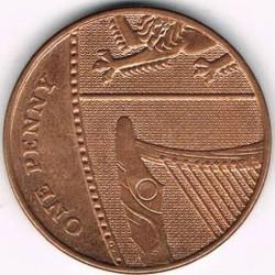 Moneda > 1penique, 2008-2015 - Reino Unido  - reverse