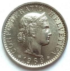 20 Rappen 1969 Schweiz Münzen Wert Ucoinnet