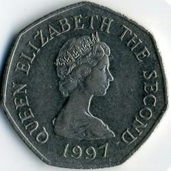Moeda > 50pence, 1997 - Jersey  (Diameter 27.3 mm) - obverse