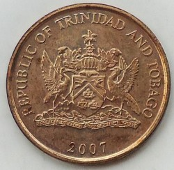Minca > 5cents, 1976-2016 - Trinidad a Tobago  - obverse
