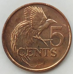 Minca > 5cents, 1976-2016 - Trinidad a Tobago  - reverse