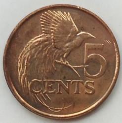 Coin > 5cents, 1976-2016 - Trinidad and Tobago  - reverse