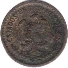 Mexico 1 Cent Coin 1912 Central America Coins