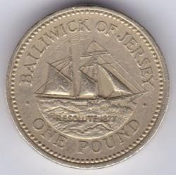 سکه > 1پوند, 1994-1997 - جرزی  - reverse
