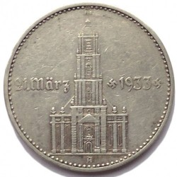 Pièce > 2reichsmark, 1934 - Allemagne - Troisième Reich  (1er anniversaire - Règle nazie, Eglise de la garnison de Potsdam) - obverse