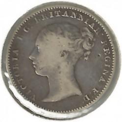 Монета > 3пенса, 1838-1887 - Великобритания  - obverse