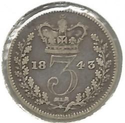 Монета > 3пенса, 1838-1887 - Великобритания  - reverse