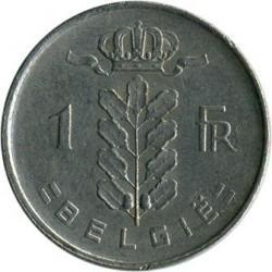 "Minca > 1frank, 1953 - Belgicko  (Nadpis v holandčine - ""BELGIE"") - reverse"