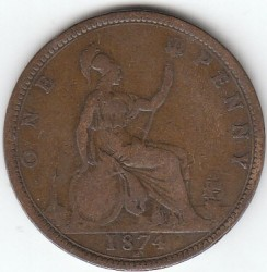 Moneta > 1pens, 1860-1874 - Wielka Brytania  - obverse