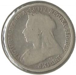 Moneda > 1shilling, 1893-1901 - Regne Unit  - reverse