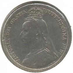 Moeda > 6pence, 1887-1893 - Reino Unido  - obverse