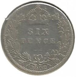 Moeda > 6pence, 1887-1893 - Reino Unido  - reverse