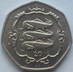 Кованица > 20пенија, 1985-1987 - Острво Мен  - reverse