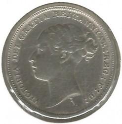 Monedă > 6pence, 1880-1887 - Regatul Unit  - obverse