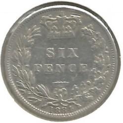 Monedă > 6pence, 1880-1887 - Regatul Unit  - reverse