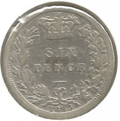 Coin > 6pence, 1880-1887 - United Kingdom  - obverse