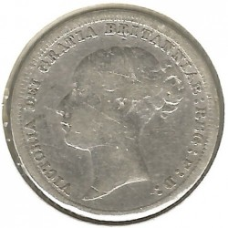 Coin > 6pence, 1880-1887 - United Kingdom  - reverse