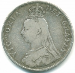 Moneda > 4 shillings (2 florins), 1887-1890 - Regne Unit  - obverse